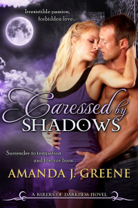 Cover Reveal: Caressed by Shadows by Amanda J. Greene