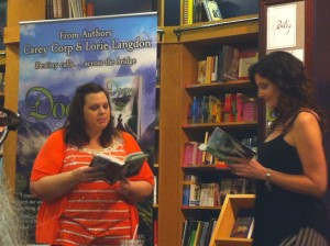 Authors Cary Corp and Lorie Langdon read from their book, Doon.