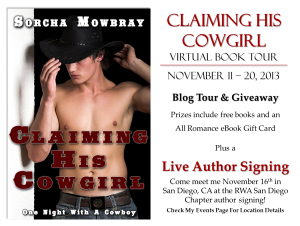 Author Guest Post & Giveaway: Sorcha Morbray