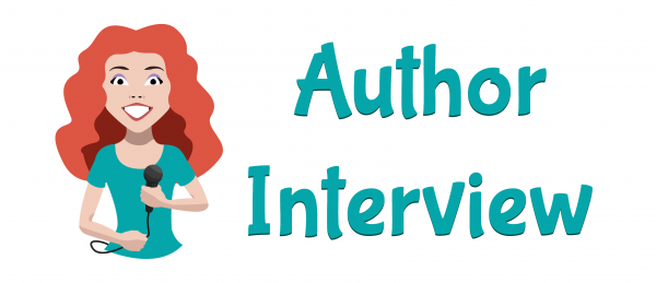 Blog header graphic with words Author Interview