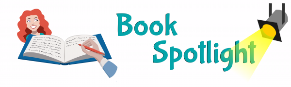 Blog header graphic with words Book Spotlight