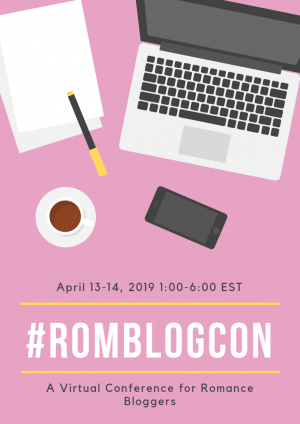 Graphic with information about RomBlogCon
