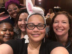 selfie of readers at blogger breakfast