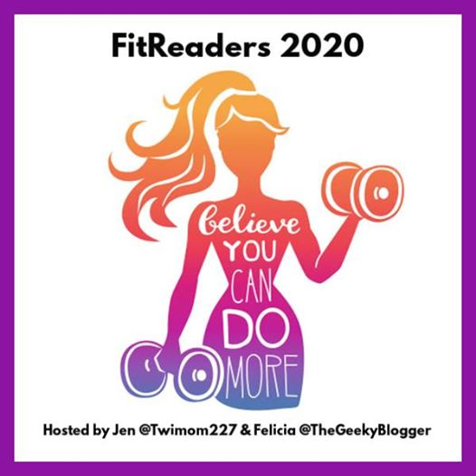 FitReader 2020 logo with drawing of woman lifting weights with inspirational message