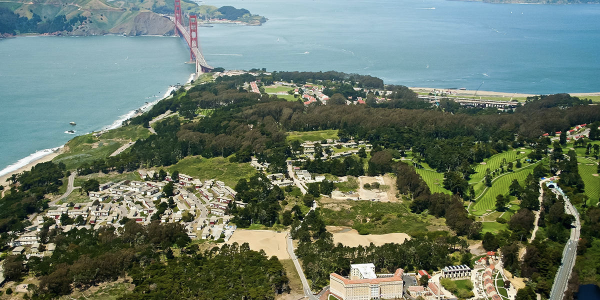 Aerial view of San Fransisco Bay Area