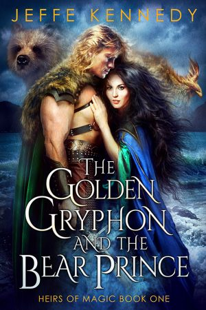 Book cover of The Golden Gryphon and the Bear Prince by Jeffe Kennedy