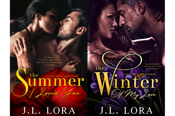 Book covers from A Love for All Seasons series by J.L. Lora