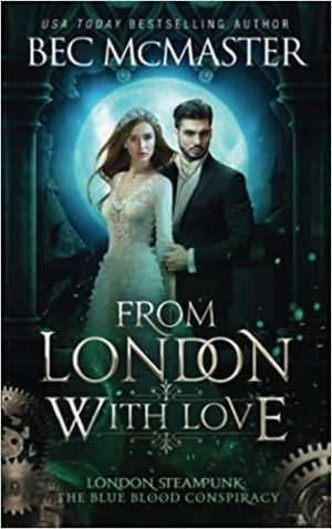 book cover of From London with Love by Bec McMaster
