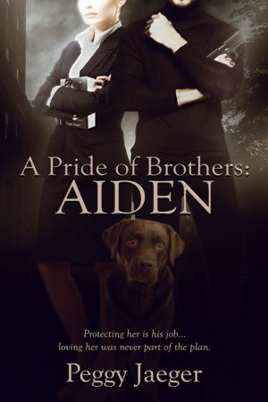 Book cover of A Pride of Brothers: Aiden by Peggy Jaeger