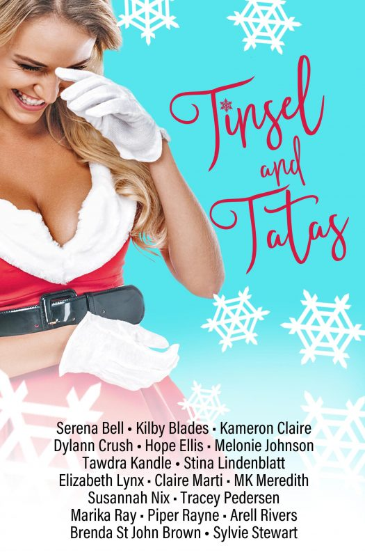 Book cover of Tinsel and Tatas anthology